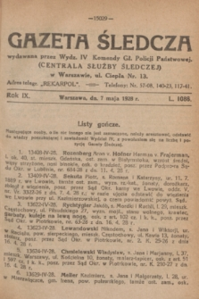 Gazeta Śledcza. R.9, L. 1086 (7 maja 1928)