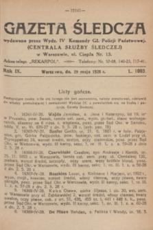 Gazeta Śledcza. R.9, L. 1093 (29 maja 1928)