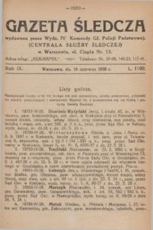 Gazeta Śledcza. R.9, L. 1100 (19 czerwca 1928)