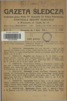 Gazeta Śledcza. R.9, L. 1105 (5 lipca 1928)