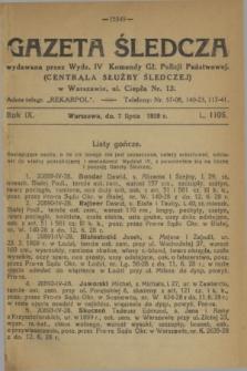 Gazeta Śledcza. R.9, L. 1106 (7 lipca 1928)