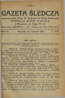 Gazeta Śledcza. R.9, L. 1115 (3 sierpnia 1928)