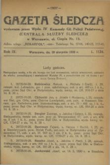 Gazeta Śledcza. R.9, L. 1124 (29 sierpnia 1928)