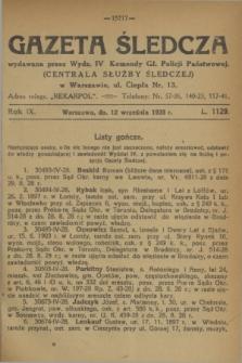 Gazeta Śledcza. R.9, L. 1129 (12 września 1928)