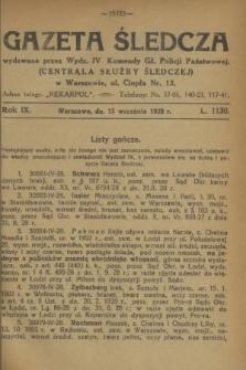 Gazeta Śledcza. R.9, L. 1130 (15 września 1928)