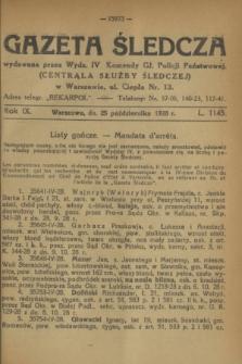 Gazeta Śledcza. R.9, L. 1145 (25 października 1928)