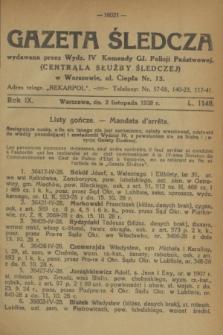 Gazeta Śledcza. R.9, L. 1148 (2 listopada 1928)