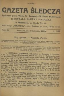 Gazeta Śledcza. R.9, L. 1155 (20 listopada 1928)