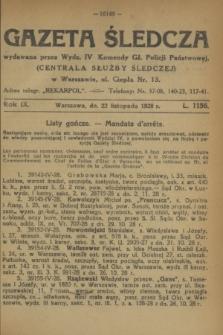 Gazeta Śledcza. R.9, L. 1156 (22 listopada 1928)
