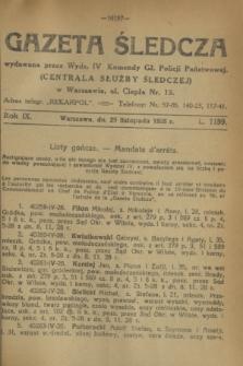 Gazeta Śledcza. R.9, L. 1159 (29 listopada 1928)