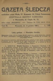 Gazeta Śledcza. R.9, L. 1165 (15 grudnia 1928)