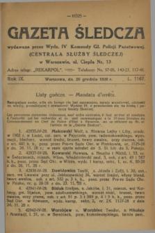 Gazeta Śledcza. R.9, L. 1167 (20 grudnia 1928)