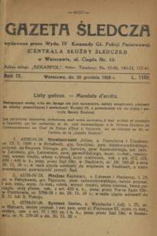 Gazeta Śledcza. R.9, L. 1169 (28 grudnia 1928)