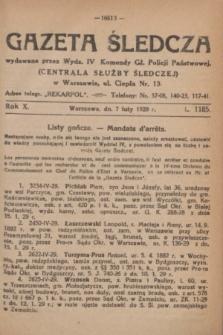 Gazeta Śledcza. R.10, L. 1185 (7 lutego 1929)