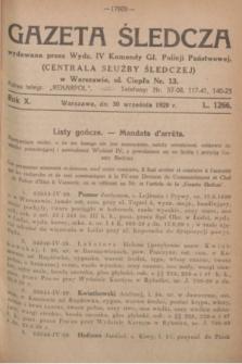 Gazeta Śledcza. R.10, L. 1266 (30 września 1929)
