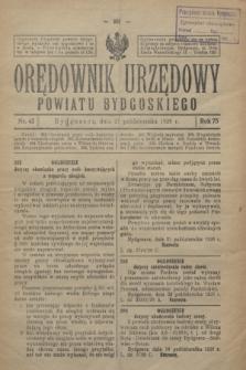Orędownik Urzędowy Powiatu Bydgoskiego. R.75, nr 43 (27 października 1926)