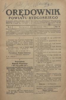 Orędownik Powiatu Bydgoskiego : wychodzi raz tygodniowo i to w środę. R.79, nr 4 (15 stycznia 1930)