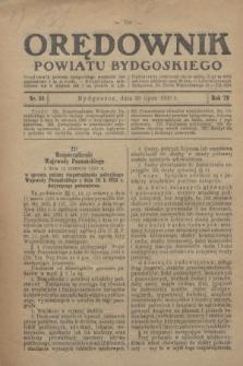 Orędownik Powiatu Bydgoskiego : wychodzi raz tygodniowo i to w środę. R.79, nr 34 (30 lipca 1930)
