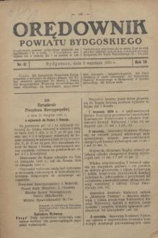 Orędownik Powiatu Bydgoskiego : wychodzi raz tygodniowo i to w środę. R.79, nr 41 (9 września 1930)