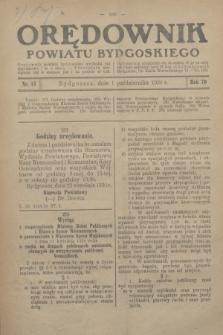 Orędownik Powiatu Bydgoskiego : wychodzi raz tygodniowo i to w środę. R.79, nr 44 (1 października 1930)