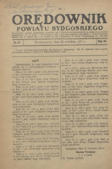 Orędownik Powiatu Bydgoskiego : wychodzi raz tygodniowo i to w środę. R.86, nr 38 (22 września 1937)