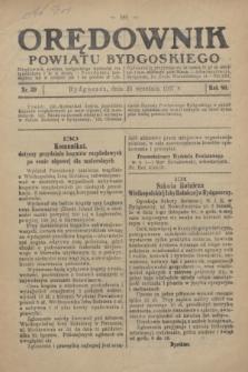 Orędownik Powiatu Bydgoskiego : wychodzi raz tygodniowo i to w środę. R.86, nr 39 (29 września 1937)