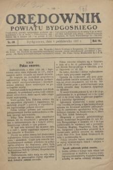 Orędownik Powiatu Bydgoskiego : wychodzi raz tygodniowo i to w środę. R.86, nr 40 (6 października 1937)