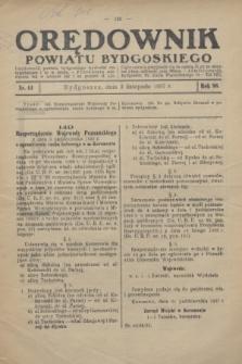 Orędownik Powiatu Bydgoskiego : wychodzi raz tygodniowo i to w środę. R.86, nr 44 (3 listopada 1937)