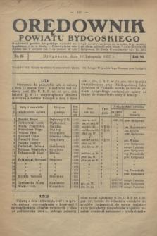 Orędownik Powiatu Bydgoskiego : wychodzi raz tygodniowo i to w środę. R.86, nr 45 (10 listopada 1937)