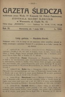 Gazeta Śledcza. R.11, L. 1344 (7 maja 1930)