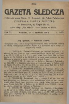 Gazeta Śledcza. R.11, L. 1405 (12 listopada 1930) + dod.