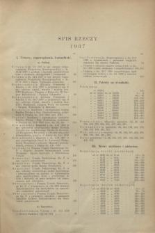 Wiadomości Urzędu Patentowego. R.14, Spis rzeczy (1937)