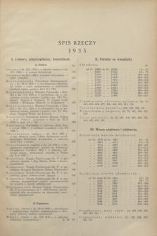Wiadomości Urzędu Patentowego. R.12, Spis rzeczy (1935)