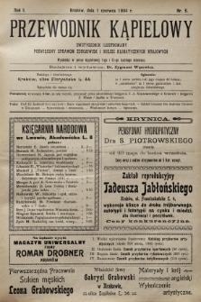Przewodnik Kąpielowy : dwutygodnik ilustrowany poświęcony sprawom zdrojowisk i miejsc klimatycznych krajowych. 1904, nr5