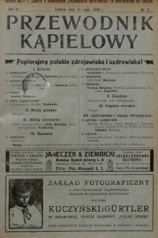 Przewodnik Kąpielowy : organ polskiego Towarzystwa balneologicznego. 1908, nr3