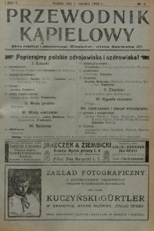 Przewodnik Kąpielowy : organ polskiego Towarzystwa balneologicznego. 1908, nr4