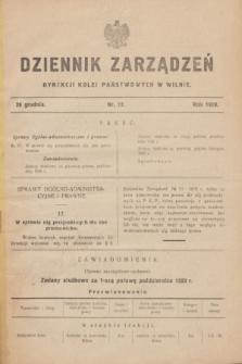 Dziennik Zarządzeń Dyrekcji Kolei Państwowych w Wilnie. 1928, nr 12 (29 grudnia)