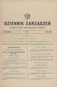 Dziennik Zarządzeń Dyrekcji Kolei Państwowych w Wilnie. 1929, nr 6 (20 września)