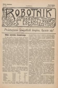 Robotnik : organ Polskiej Partji Socjalistycznej [Lewicy]. 1909, nr 219 (grudzień) - wyd. zagraniczne