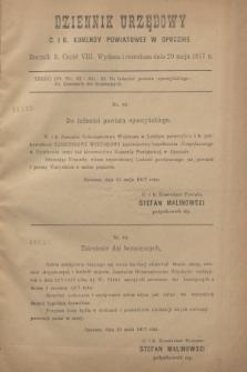 Dziennik Urzędowy C. i K. Komendy Powiatowej w Opocznie.R.3, cz. 8 (29 maja 1917)