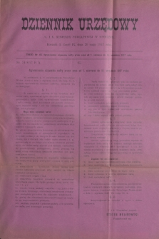 Dziennik Urzędowy C. i K. Komendy Powiatowej w Opocznie.R.3, cz. 9 (29 maja 1917)