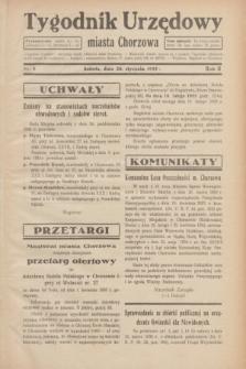 Tygodnik Urzędowy miasta Chorzowa.R.2, nr 4 (26 stycznia 1935)