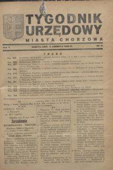 Tygodnik Urzędowy Miasta Chorzowa.R.5, nr 21 (11 czerwca 1938)