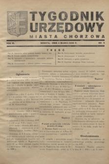 Tygodnik Urzędowy Miasta Chorzowa.R.6, nr 9 (4 marca 1939)