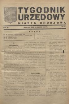 Tygodnik Urzędowy Miasta Chorzowa.R.6, nr 12 (25 marca 1939)