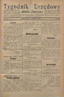 Tygodnik Urzędowy miasta Chorzowa.R.3, nr 28 (19 września 1936)