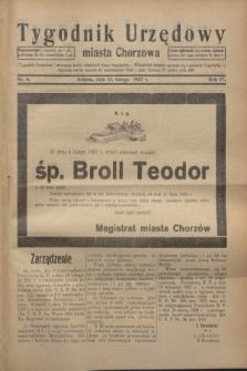 Tygodnik Urzędowy miasta Chorzowa.R.4, nr 6 (13 lutego 1937)