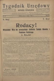 Tygodnik Urzędowy miasta Chorzów.R.4, nr 17 (1 maja 1937)