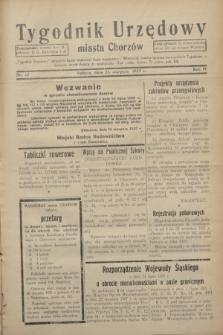 Tygodnik Urzędowy miasta Chorzów.R.4, nr 32 (21 sierpnia 1937)