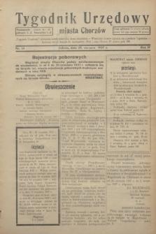 Tygodnik Urzędowy miasta Chorzów.R.4, nr 33 (28 sierpnia 1937)